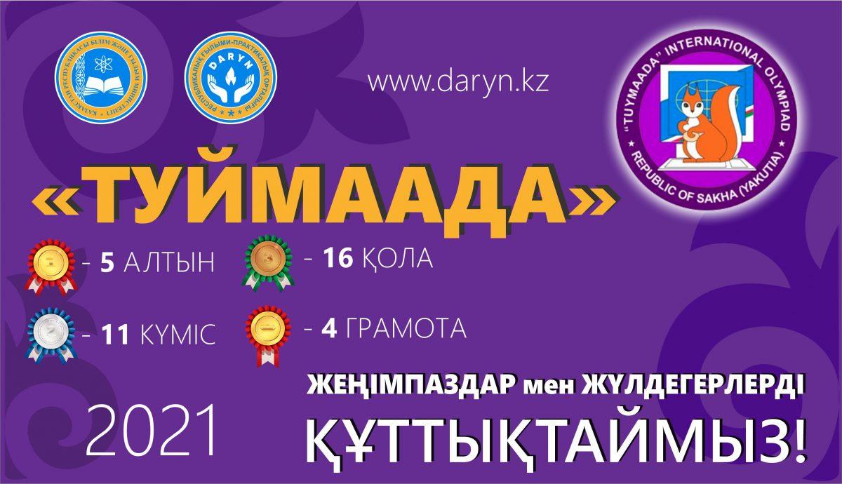 ПРЕСС-РЕЛИЗ об итогах участия одаренных школьников Казахстана в международной олимпиаде «ТУЙМААДА» по математике, физике, химии и информатике